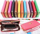 12 Colors Wallet Clutch Long Handbag Phone Case for Galaxy S2,S3,iphone 4,4S,5