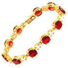 Costume Jewellery Round Cut Yellow Gold Plated Tennis Bracelet Chain