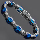 Xmas Gifts Costume Jewellery 18K White Gold Plated Marquise Cut Bracelet