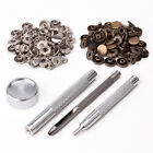 30 Poppers 10mm/15mm Snap Fastener Press Stud Kit + Fixing Tool Sewing Leather