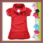NEW Short sleeved Cotton Baby Toddler Girls Dress Sports Design for 6M-4Yrs