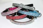 Cat Collar Kitten Diamante Rhinestone Crystal Leather with Safety Elastic, Bell