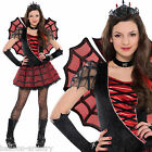 Ladies ADULT Gothic Red Spider Fairy Queen Halloween Fancy Dress Costume