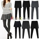 Fashion Women Skirt Leggings Footless Cotton Pleated Stretch