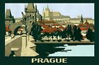 Prague Bohemia Czech Republic Travel Tourism Europe Vintage Poster Repro FREE SH
