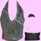 Allstate Leather Ladies Womens Leather Halter Top with St...