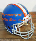 Denver Broncos 1967 Throwback Custom Mini Helmet w/ Authentic Metal Facemask