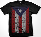 Puerto Rico Rican Beisbol Futbol Flag Oversized Distressed New Men's T-shirt
