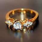 Sparkly Noble Jewelry 18k Yellow Gold Plated GP Rhinestone Women Lady Ring