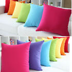 NEW Solid Candy Colors Simple Design Micro Suede Pillow Case Cushion Cover 19""