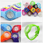 HEART CRYSTAL NEW JELLY BOYS GIRLS MENS WOMENS KIDS WRIST WATCH RUBBER SILICONE