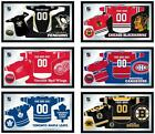 """Choose Your NHL Team 26 x 15"""" Framed Litho Color Personalized Jersey Wall Mirror"""