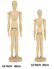"ARTIST WOODEN MANIKIN MANNEQUIN SKETCHING LAY FIGURE DRAWING MODEL 8"" 12"" & 16"""