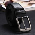 1PCS Genuine Leather Pin Buckle Men Belt Waistband