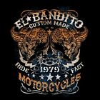 EL BANDITO CUSTOM MOTORCYCLE CHEST LOGO T SHIRT W/FREE HARLEY DECAL
