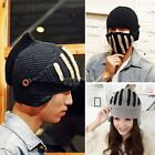 Women Men Car Motorbicycle Knit Winter Warm Beard Hat Cap Beanie Mask Face B20E