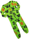 EX NEXT Baby Boys Fleece All in One - Onesie - Bright Green with Monsters - NEW