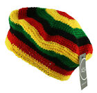 BNWT - RASTA REGGAE BERET Crochet Knit Tam Beanie Cap Hat Black Red Yellow Green