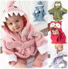 Baby Kids Toddler Girl Boy Animal Cartoon Pattern Bathrobe Towel With Cotton Hat