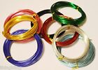 Aluminum Wire - 1.5mm in diameter 6m or 10m roll Choose your colour