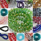 NEW Faceted Rondelle Bicone Glass Crystal Jewelley Loose Beads 6mm/98pc 8mm/70pc