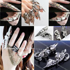 New 10 Styles Men's Spike Armor Knuckle Joint Full Punk Gothic Finger Cool Ring