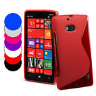 S Line Wave Gel Case Cover For Nokia Lumia 929 + Screen Protector