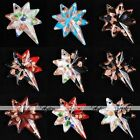49x38mm Multicolor Lampwork Glass Beads Star Pendant Jewellery Fit Necklace