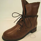 Ladies Brown Lace Up Ankle Boots 50208
