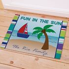 Personalized Fun in The Sun Doormat Family Name Welcome Summer Doormat 2 sizes