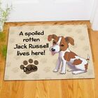 Personalized Jack Russell Doormat Spoiled Rotten Dog Lives Here Dog Name Doormat