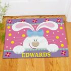 Personalized Easter Bunny Doormat Family Name Welcome Easter Doormat Door Mat