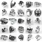 1pc Men's Stainless Steel Skull Devil Eagle Claw Finger Ring Punk Rock Jewellery