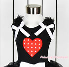 Valentine Mustache Romantic Rose Heart Things-1 Germany Minnie Black Top NB-10Y