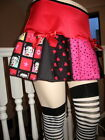New Red Pink Black blue White Betty Boop Skulls Hearts check Skirt Retro Party $34.37 USD on eBay