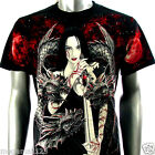 Limited Rock Eagle T-Shirt Sz M L XL XXL Tattoo Sexy Lady Dragon Slayer mma E45