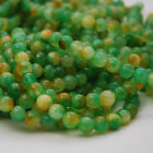 "16"" Semi Precious Gemstone Watermelon Jade Round Beads  4mm, 6mm, 8mm, 10mm"