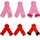 Hot Red Light Pink Baby Girl Solid Colors Leggings Leg Warmers with Ruffles