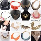 Women Fashion Retro Bib Statement Necklace Choker Jewelry Chunky Collar Party