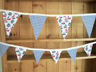Brand New BLUE & WHITE SAILBOATS Double Sided Bunting - large or small
