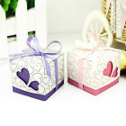50pc 100pc Heart Wedding Box Bomboniere Candy Box Wedding Gift Favour Party