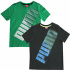 Puma No1 Story Boys Kids Cotton Short Sleeve T-Shirts (816858 01-02 R14)
