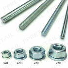 THREADED STAINLESS STEEL ROD - NUTS & WASHERS ★M6/M8/M10/M12★ Metal Screw Hex