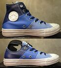 CONVERSE CHUCK TAYLOR ALL STAR TRI-PANEL DARK LIGHT BLUE WHITE LEATHER MEN SHOES