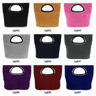 Ladies Faux Suede Leather Designer Mini Handbag Shopper Bag Purse 9 Colours