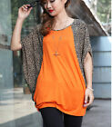 LL02 New loose leopard print batwing sleeve top shirt blouse au/uk 8 10 12 14 16