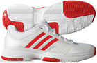 NEW Adidas Barricade 7.0 Womens Tennis Shoe White/Red/Silver CLOSEOUT