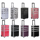 """35"""" 4 in 1 Rolling Makeup Case Cosmetic Train Cases Beauty Box --FREE SHIPPING--"""