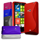S LINE WAVE GEL CASE COVER FITS NOKIA LUMIA 625 & SCREEN PROTECTOR