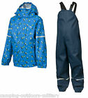Trespass Kids Boys Waterproof Suit - Jacket & Dungarees Trousers Toddlers Blue